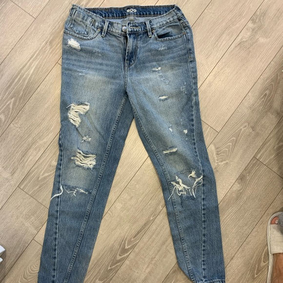 Urban outfitters slim boyfriend ripped jeans